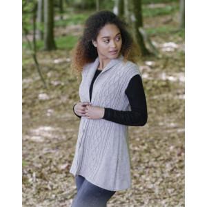 Morgan's Daughter Vest by DROPS Design - Vest Strikkeopskrift str. S - XXXL