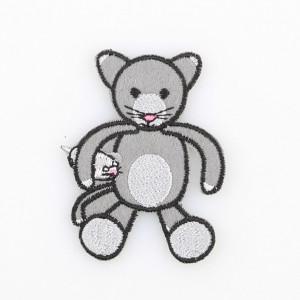 Go handmade Strygemærke Katten Simon & Musen Mats 6x4,5 cm - 1 stk