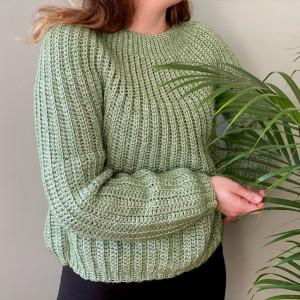 Lyse Sweater af Rito Krea - Sweater Hækleopskrift Str. XS-XXL