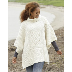 Comfort Chronicles by DROPS Design - Poncho Strikkeopskrift One-size