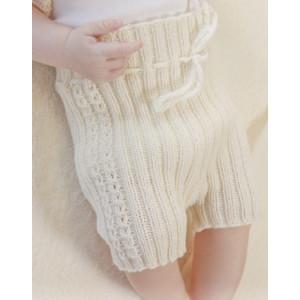 Simply Sweet Shorts by DROPS Design - Baby shorts Strikkeopskrift str. Præmatur - 3/4 år