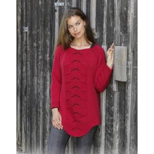 Red Tulipby DROPS Design - Bluse Strikkeopskrift str. S - XXXL