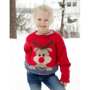 Red Nose Jumper Kids by DROPS Design - Bluse Strikkeopskrift str. 2-12 år