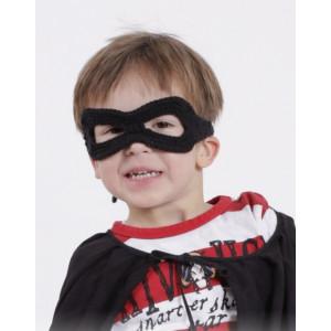 Little Zorro by DROPS Design - Maske Hækleopskrift One size