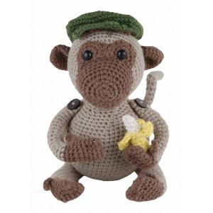 Go handmade Go handmade hæklekit aben jimmi 18 cm på rito.dk