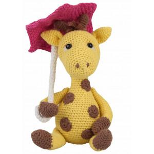 Go handmade Hæklekit Giraffen Gunilla 22 cm