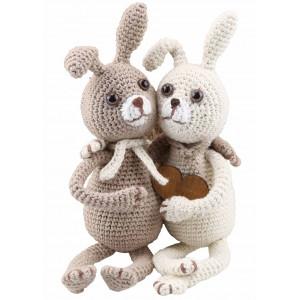 Go handmade Hæklekit Kaninerne Lilly & Tim 22 cm og 22 cm