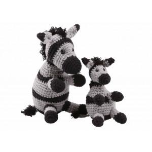 Go handmade Hæklekit Zebraerne Paula & Peter 15 cm og 9 cm