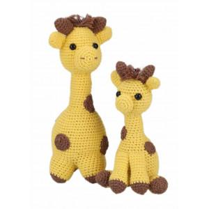 Go handmade Hæklekit Girafferne Julia & Lotta 20 cm og 15 cm