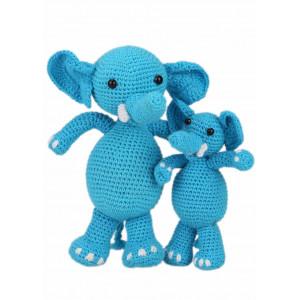 Go handmade Hæklekit Elefanterne Sara & Simba 18 cm og 10 cm