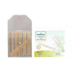 KnitPro Bamboo Strømpepindesæt Bambus 15 cm 2-5 mm 7 størrelser