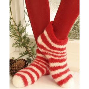 Christmas Slippers by DROPS Design - Filtede Tøfler Strikkeopskrift str. 35/37 - 42/44