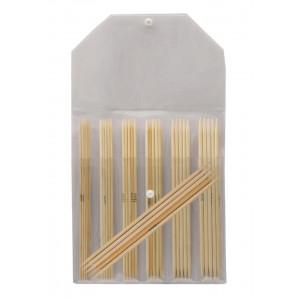 KnitPro Bamboo Strømpepindesæt Bambus 20 cm 2-5 mm 7 størrelser