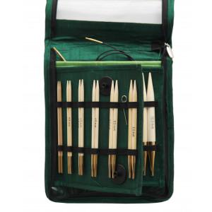KnitPro Bamboo Udskiftelige rundpindesæt Bambus 60-80-100 cm 3-10 mm 10 størrelser Deluxe
