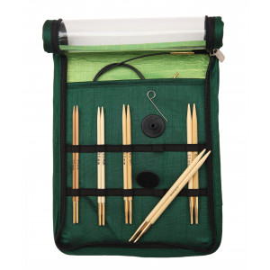 KnitPro Bamboo Udskiftelige rundpindesæt Bambus 60-80-100 cm 3-5 mm 5 størrelser Startsæt