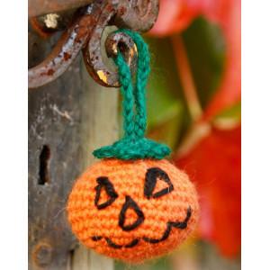 Jack by DROPS Design - Halloween Græskar Hækleopskrift 5cm