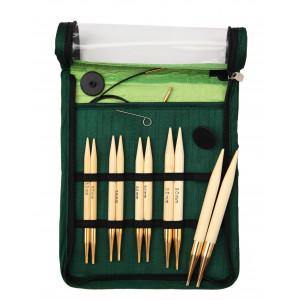 KnitPro Bamboo Udskiftelige rundpindesæt Bambus 60-80-100 cm 6-10 mm 5 størrelser Chunky