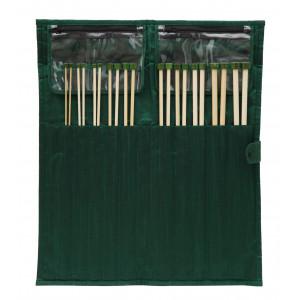 KnitPro Bamboo Jumperpindesæt Bambus 25 cm 3-10 mm 10 størrelser