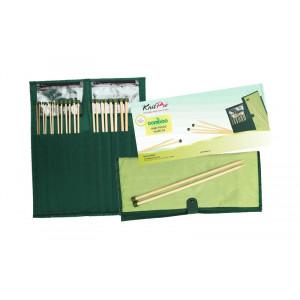 KnitPro Bamboo Jumperpindesæt Bambus 30 cm 3-10 mm 10 størrelser