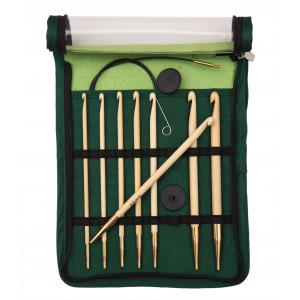 KnitPro Bamboo Hæklenålesæt Bambus 60-80-100 cm 3,5-8 mm 8 størrelser til Tunesisk hækling / Hakning