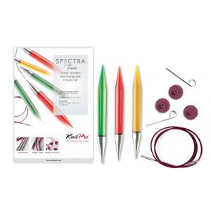 KnitPro Trendz Udskiftelige rundpindesæt Akryl 60-80-100 cm 9-12 mm 3 størrelser Chunky