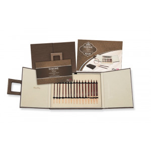 KnitPro Symfonie Rose Udskiftelige rundpindesæt Birk 60-80-100 cm 3,5-8 mm 8 størrelser