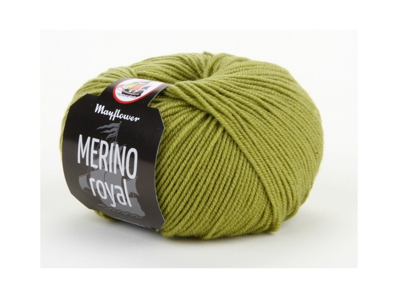 Mayflower Merino Royal Garn Unicolor 610 Lime - 10 stk - Rito.dk