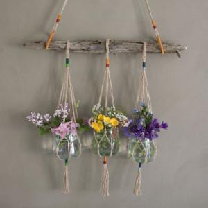 DIY Hanging pots af Rito Krea - Hængevaser Knytteopskrift