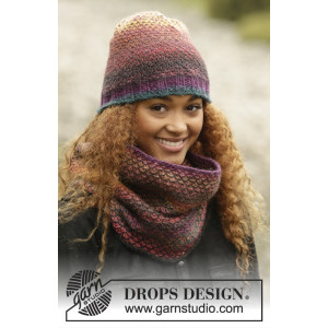 Eventide by DROPS Design - Hue og Hals Strikkeopskrift str. S/M - M/L