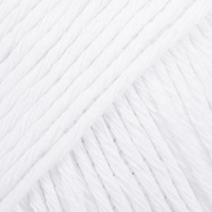 Drops Cotton Light Garn Unicolor 02 Hvid