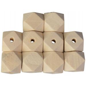 Infinity Hearts Træperler Geometriske 12 mm - 10 stk