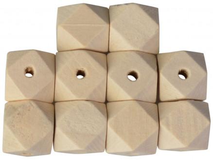 Infinity Hearts Træperler Geometriske 12 mm - 10 stk thumbnail