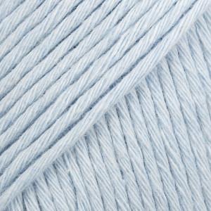 Drops Cotton Light Garn Unicolor 08 Isblå