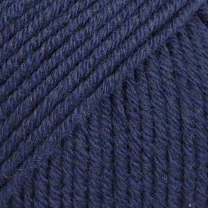 Drops Cotton Merino Garn Unicolor 08 Marineblå