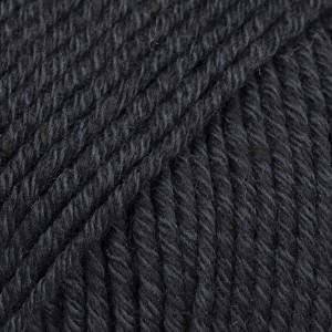 Drops Cotton Merino Garn Unicolor 02 Sort
