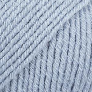 Drops Cotton Merino Garn Unicolor 09 Isblå