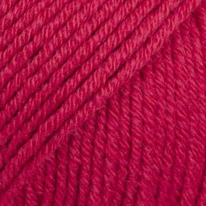 Drops Cotton Merino Garn Unicolor 06 Rød