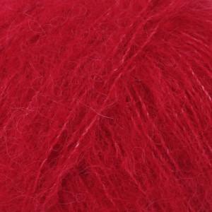 Drops Brushed Alpaca Silk Garn Unicolor 07 Rød