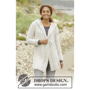 Melody of Snow by DROPS Design - Jakke Strikkeopskrift str. XS/S - XXXL