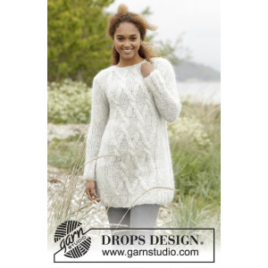 Diamond Bliss by DROPS Design - Bluse Strikkeopskrift str. XS/S - XXXL