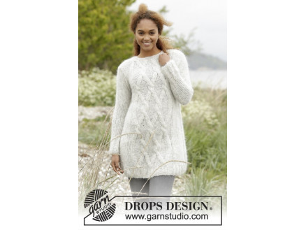 Image of   Diamond Bliss by DROPS Design - Bluse Strikkeopskrift str. XS/S - XXXL