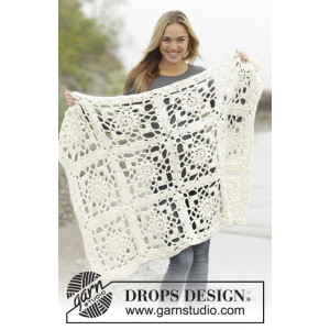 Winter Crystal by DROPS Design - Tæppe Hæklekit 80/104-104/128 cm