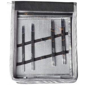 KnitPro Karbonz Udskiftelige rundpindesæt Kulfiber 60-80-100 cm 3-4,5 mm 4 størrelser Startsæt