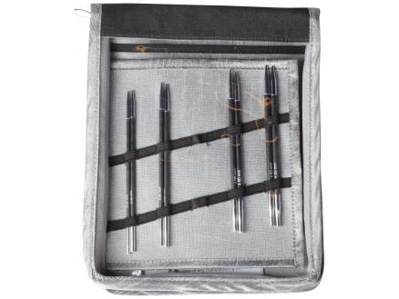 Knitpro Karbonz Udskiftelige Rundpindesæt Kulfiber 60-80-100 Cm 3-4,5