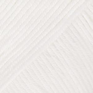 Drops Safran Garn Unicolor 17 Hvid
