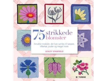 Image of   75 strikkede blomster - Bog af Lesley Stanfield