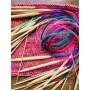 Infinity Hearts Rundpindesæt Bambus Natur/Print 80cm 2-10mm - 18 størrelser