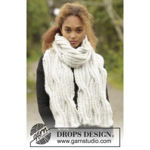 Silver Falls by DROPS Design - Halstørklæde Strikkeopskrift 160x30 cm