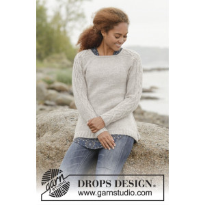 Irish Plaits by DROPS Design - Bluse Strikkeopskrift str. S - XXXL
