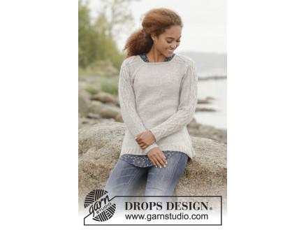 Billede af Irish Plaits by DROPS Design - Bluse Strikkeopskrift str. S - XXXL